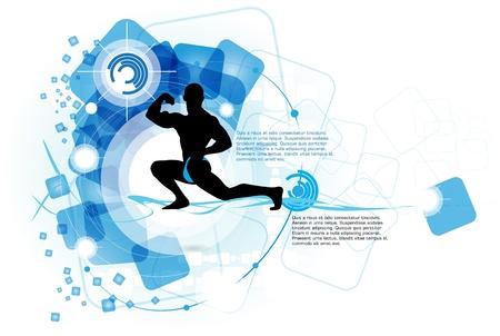 Bodybuilding. Vector illustration Stock Vector - 13778665