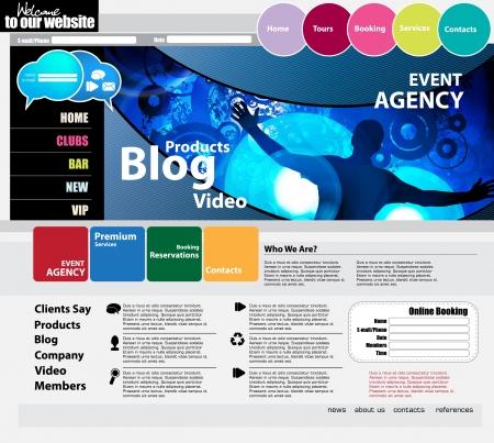 Elegant web site design template Vector