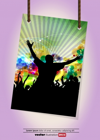 Music background party Stock Vector - 13882367