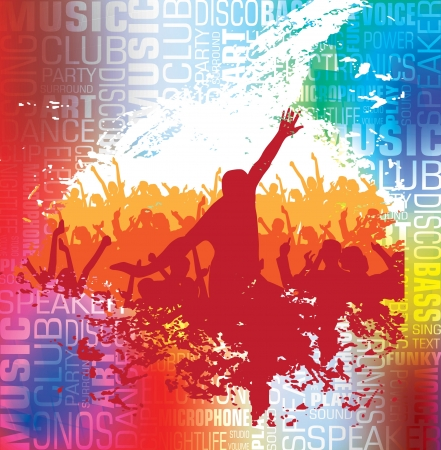 人々 音楽イラストを踊る