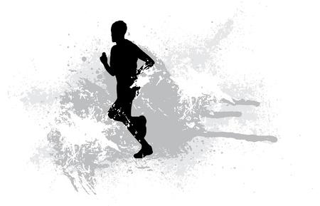 atleta corriendo: Deporte ilustraci�n