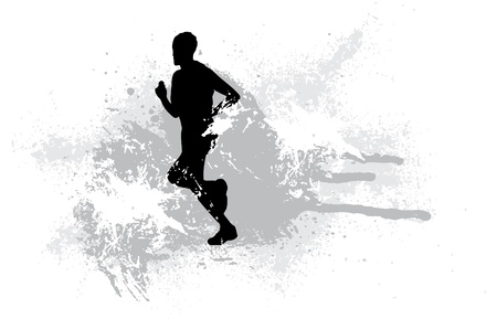 marathon runner: Sport illustration