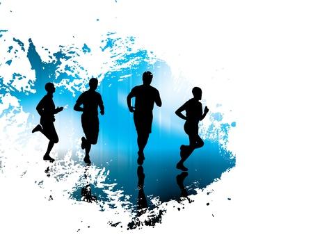 athlete running: Sport illustration