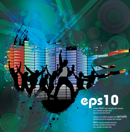Music event background illustration. Stock Vector - 13933304