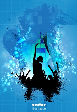People dancing background party  Vector