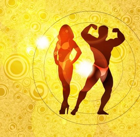 perfect fit: Bodybuilding  illustration