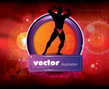 Bodybuilding  illustration  Vector