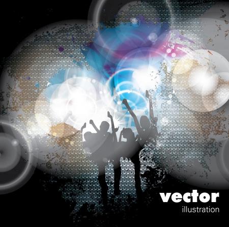 Music event background illustration Vetores