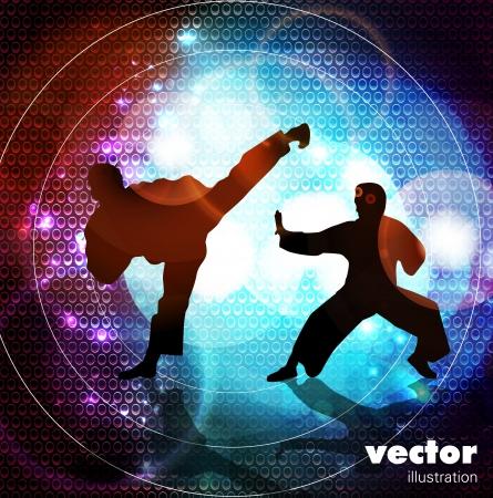 Karate illustration Vector