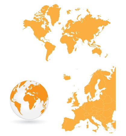 europe map: World map