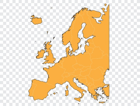 Map of Europe Stock Vector - 14014983