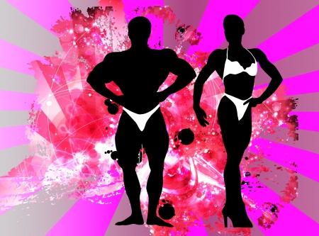 Bodybuilding  illustration  Vector