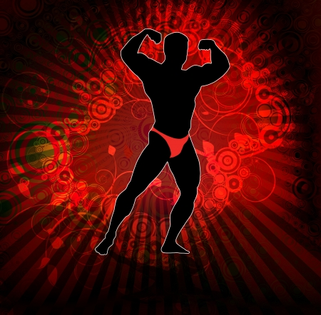Bodybuilding  illustration  Stock Vector - 14051487