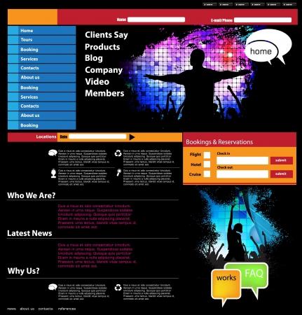 Website template Illustration