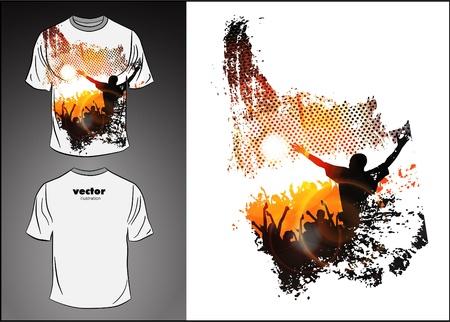 in shirt: T-shirt de dise�o