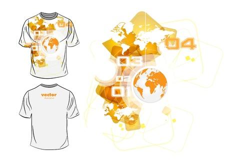 t square:  T-shirt design Illustration