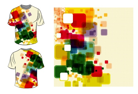 raglan:  T-shirt design Illustration