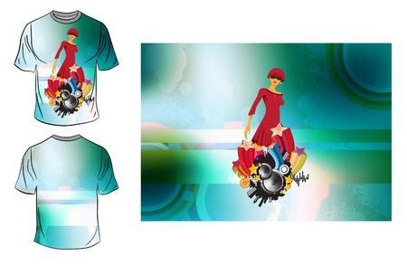 T-shirt design Stock Vector - 14076833