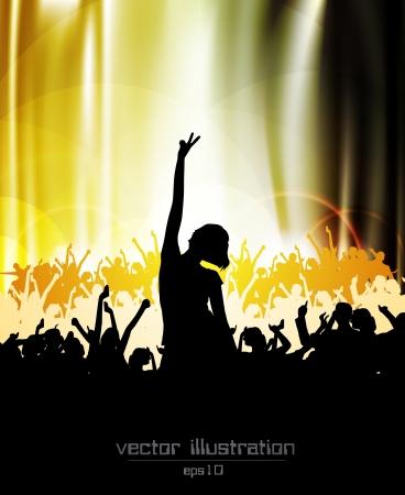 nightclub crowd: Music concept