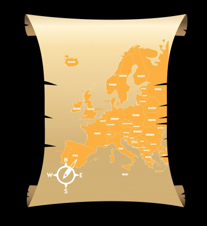 Map of Europe Stock Vector - 14109281
