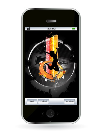 Smart phone Stock Vector - 14256936