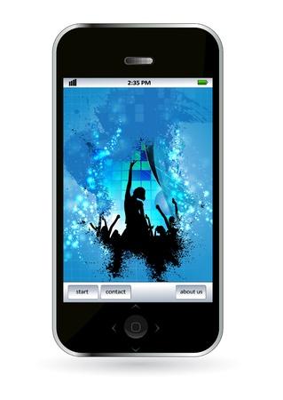 Smart phone Stock Vector - 14256929