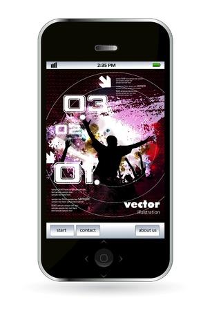 Smart phone Stock Vector - 14256931