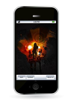 Smart phone Stock Vector - 14256943