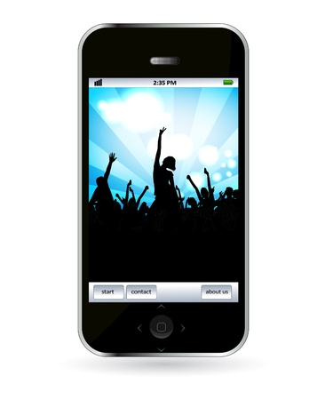 Mobile phone Stock Vector - 14245075