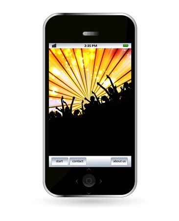 Mobile phone Stock Vector - 14245077