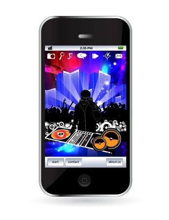 Smart phone Stock Vector - 14256951