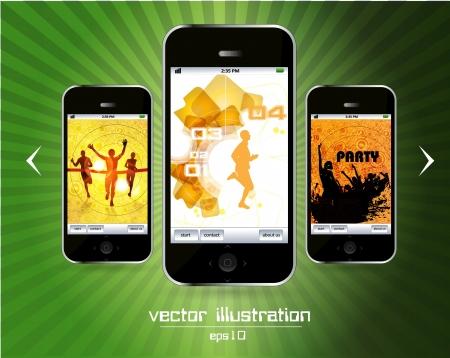 Smart phone Stock Vector - 14378940