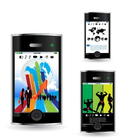 Smart phone Stock Vector - 14378947