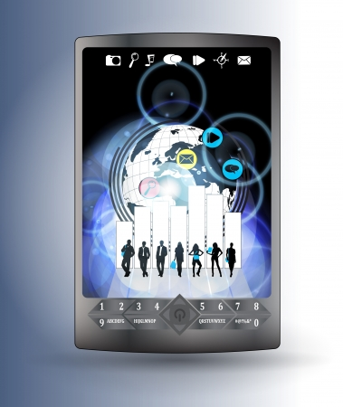 Smart phone with business application  Vector