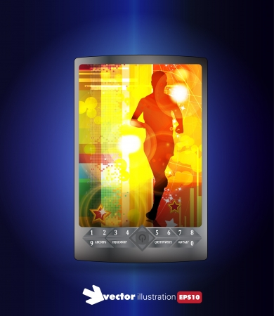 Smart phone with sport application  Vector