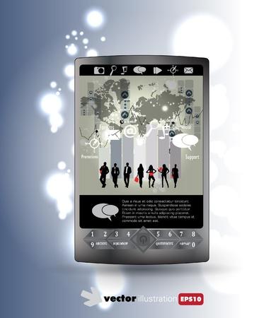 Smart phone Stock Vector - 14378961