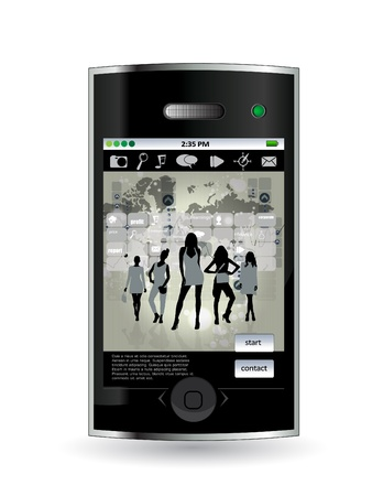 Smart phone Stock Vector - 14378949