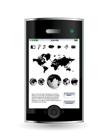 Smartphone editable vector Vector