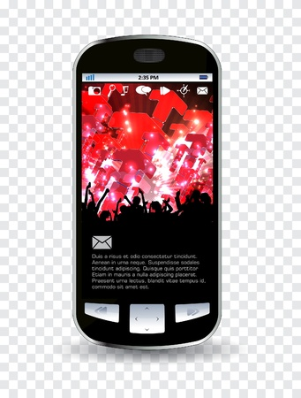 Smart phone editable Stock Vector - 14322836