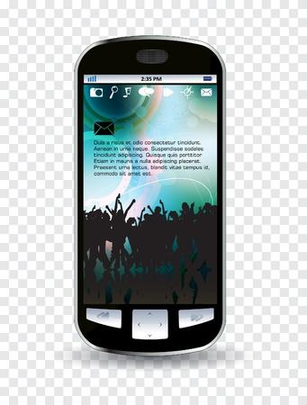 Smart phone editable  Stock Vector - 14322830