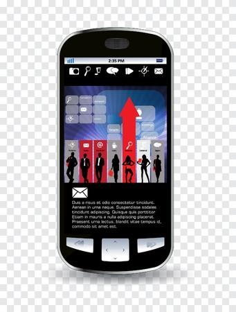 Smart phone editable Stock Vector - 14322754