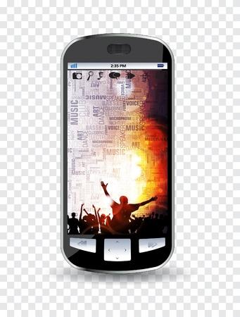 Smartphone editable Stock Vector - 14322772
