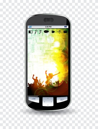 clubing: Smartphone editable vector