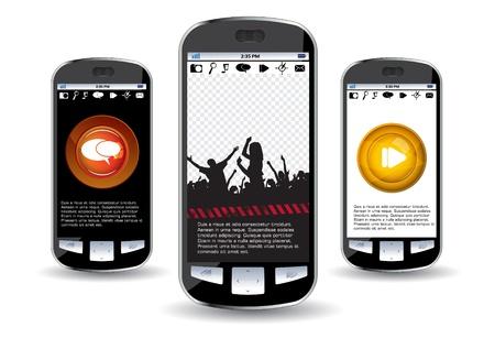 Smartphone editable Stock Vector - 14322844