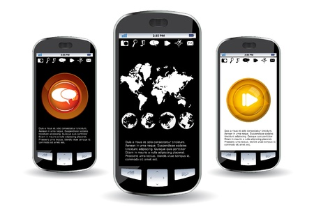 Smartphone editable Stock Vector - 14322846