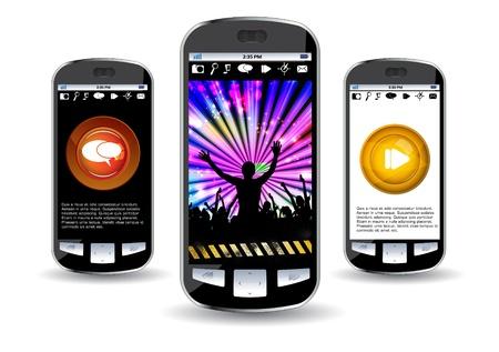 Smartphone editable Stock Vector - 14322839