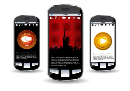 Smartphone editable  Stock Vector - 14322779