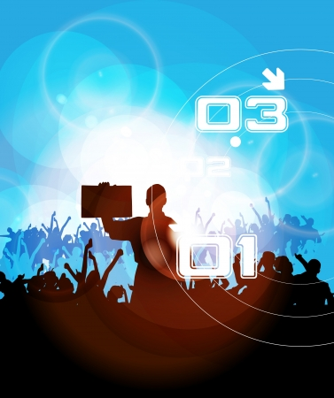 Music event illustration Stock Vector - 14362318