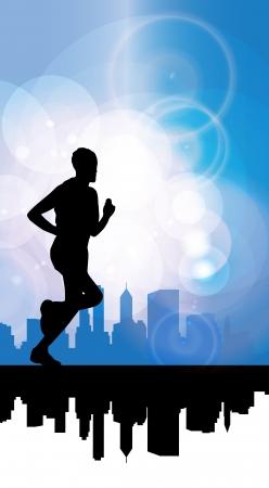 jogger: Jogger  Vector illustration