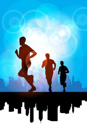 sprinting: Sport vector illustration Illustration